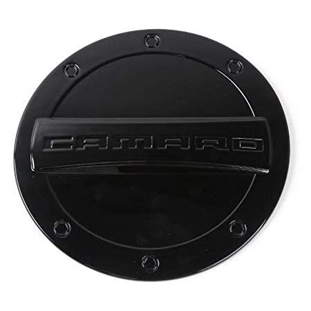 FMtoppeak 5 Colors Exterior Fuel Tank Cover Gas Lid Cap Accessories ABS Compatible with Chevrolet Camaro 2016 Up (Black)