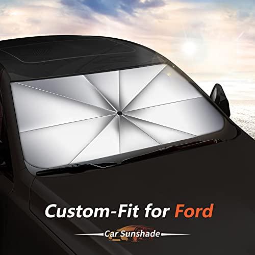Car Sun Shade for Ford Edge, Custom-fit Windshield Sunshade Umbrella(Updated...