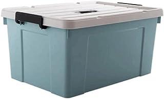 Lpiotyucwh Paniers et Boîtes De Rangement, Garderie de Rangement en Plastique avec Couvercle fixé, Grandes conteneurs de S...