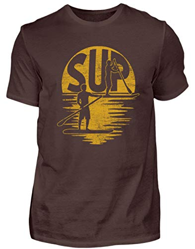 SUP – Stand Up Paddling – Paddle Board Surf Surfer Surf Tabla Deportes acuáticos – Hombre Camiseta marrón XL