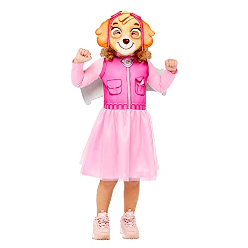 amscan 9909114 Disfraz de Paw Patrol Skye para Halloween, rosa, 4-6 años