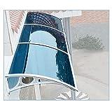 LIXIONG Marquesina Puertasy, Moderno Policarbonato Ventanas Protección Escaparates Lluvia Nieve Refugio Azul, Personalización Tamaño (Color : Blue, Size : 60x160cm)