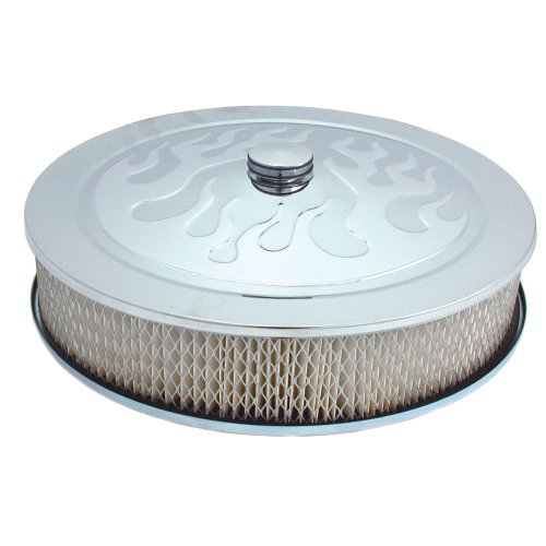 """Spectre Performance (4758) 14"""" x 3"""" Chrome Flamed Air Cleaner"""