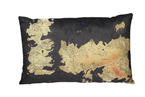 Game of Thrones - Coussin - Carte - Westeros - Logo - 55 x 35 x 8 cm