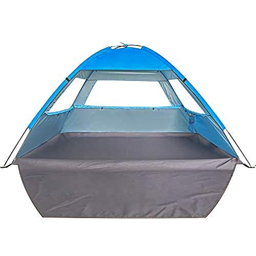 Venustas Beach Tent Beach Umbrella Outdoor Sun Shelter Cabana Canopy UPF 50+ Sun Shade Easy Set Up 3-4 Person, Lightweight and Easy to Carry