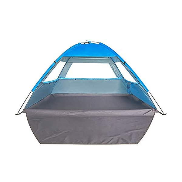 Venustas Beach Tent Beach Umbrella Outdoor Sun Shelter Canopy Cabana UPF 50+ Sun...