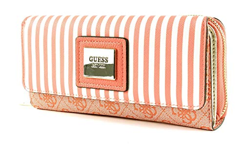Guess Candace SLG Large Clutch Organizer Coral