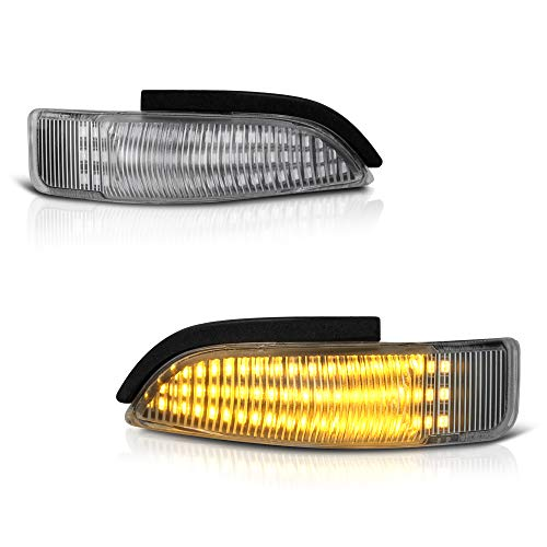 [Sequential Turn Signal] VIPMOTOZ Full LED Amber Side Marker Light Lamp Assembly Replacement Pair For Toyota Corolla Avalon Prius C Scion iM Mirror