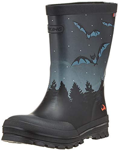 Viking Jolly Bat & Eagle, Stivali in Gomma Unisex-Bambini, Nero (Nero/Multi 250), 27 EU