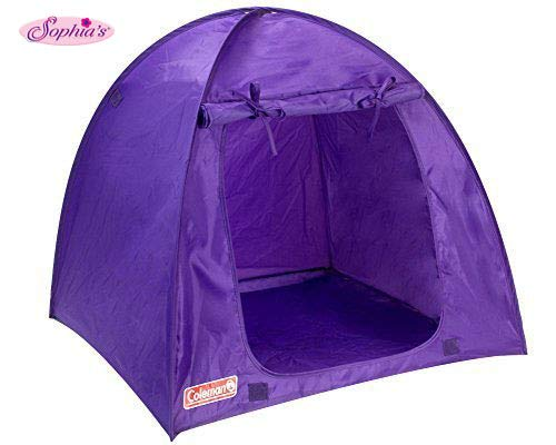 Sophia's Purple Coleman Doll Tent, Perfect for The 18 Inch Camping American Girl Dolls & More! 18 Inch Coleman Collapsible Doll Tent in Purple