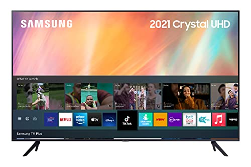 Samsung 2021 43 inch AU7110 Crystal UHD 4K HDR Smart TV, Compatible with Alexa