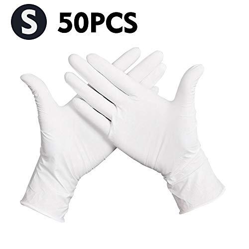 KKmoon Einweghandschuhe 50 Stücke 1 Box Untersuchungshandschuhe ohne Puder Latex Steril Handschuhe...