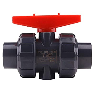 True Union Ball Valve with Full Port-3/4'' PVC Compact Ball Valve with EPDM O-Rings, Reversible PTFE Seats, Rated at 150 PSI, 3/4 inch Socket by LAWEI