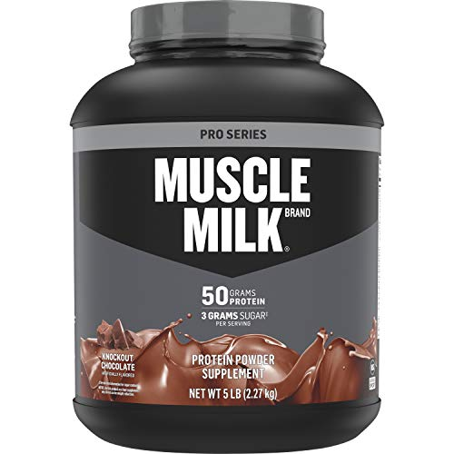 Muscle Milk Pro Series Protein Powder, 50g Protein, Knockout Chocolate, 5 Pound, 28 Servings