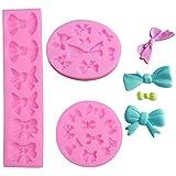Stampo per Fondente Mini Fiore Set stampi in silicone a forma di rosa Cioccolato Rose Silicone Soap Moulds Torta Stampi per Glassa Forma di Fiore per Fondente Cioccolato Aromaterapia Candela 3 Pezzi