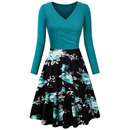 Vectry Vestidos Coctel Vestidos Casuales Sueltos para Mujer Vestidos Elegantes para Niña Moda Mujer 2020 Rebajas Vestidos Vestidos Cortos Verano 2020 Vestidos para Playa Mujer Vestidos Azul