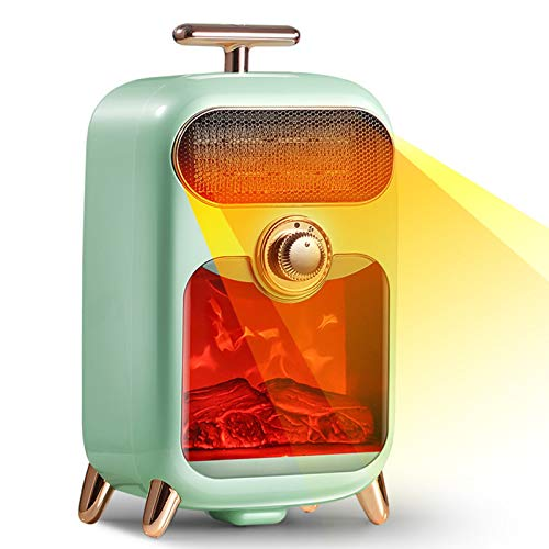 YHX Calentador Retro Creativo, Calentador eléctrico silencioso para el hogar, Calentador de Ahorro de energía portátil de Escritorio, Calentador Solar pequeño