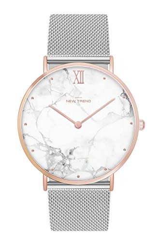 New Trend - Love for Accessories Damen Uhr analog Quarzwerk mit Edelstahl-Armband LV-7S7J-FPP8