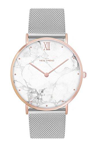 New Trend - Love for Accessories Damen Uhr analog Quarzwerk mit Edelstahl Armband 0Q-UJ90-B86X