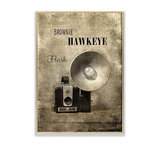 QIAOZ Impresión en Lienzo, Carteles de Pintura en Lienzo de cámara Vintage, colección de fotografía de máquina Antigua, Cuadros de Pared, sin Marco