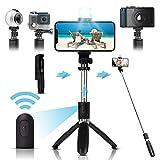Arikaree® Bastone Selfie Stick 2021 Con Luce Per Selfie LED,...
