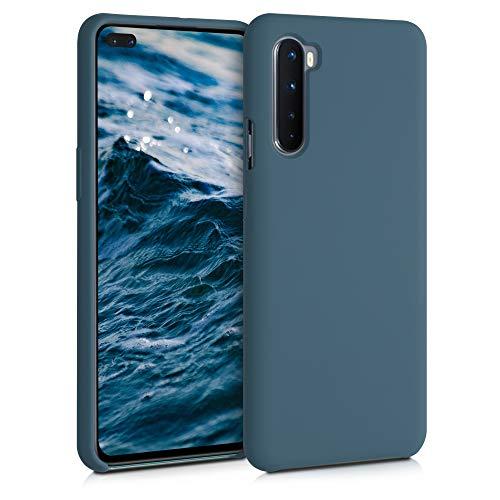 kwmobile Custodia Compatibile con OnePlus Nord - Cover in Silicone TPU - Back Case per Smartphone - Protezione Gommata Ardesia