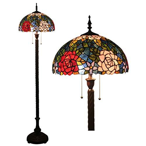 Tiffany Luxe staande lamp, creatief, voor slaapkamer, nachtkastje, woonkamer, bar, restaurant, 16 inch