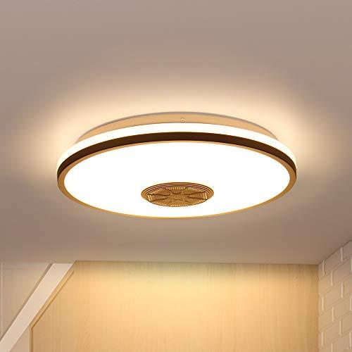 Wovatech Luz de techo LED con música - Iluminación de 36W con altavoz Bluetooth Wifi - Lámpara de techo regulable y cambiante de color de 3200 lúmenes para sala de estar