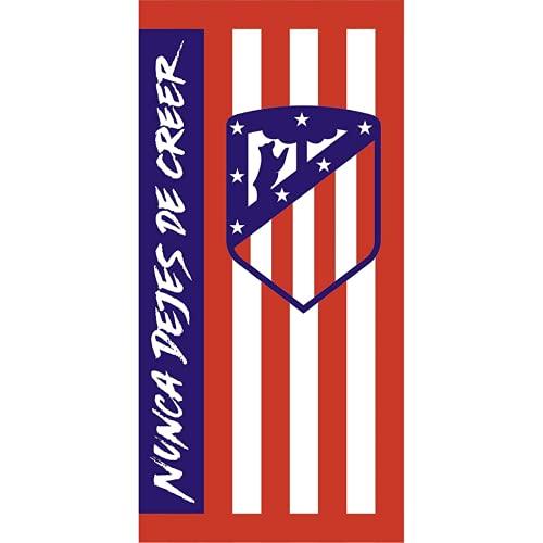 Toalla Playa Algodón Atlético de Madrid Nunca Dejes de Creer 70x150