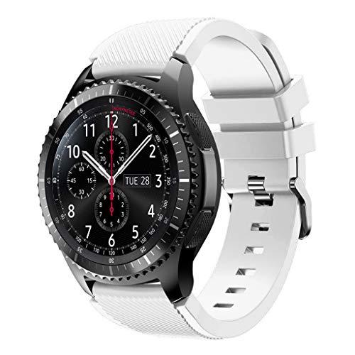 Silikon-Ersatz-Uhrenarmband, Sport-Uhrenarmband für Gear S3/Gear2 R380/Gear2 Neo R381/Live R382 weiß