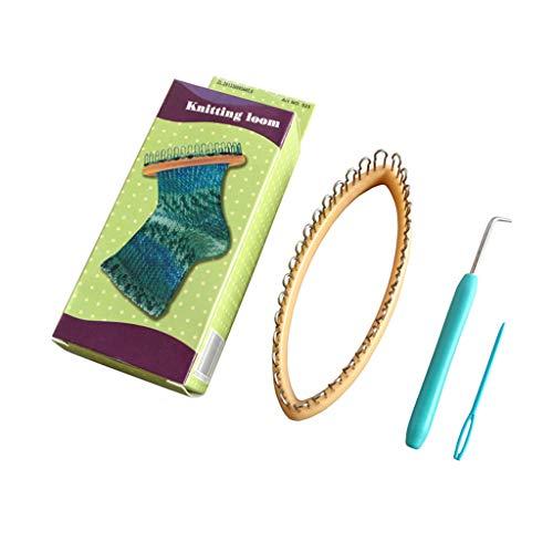 Best Quality Plastic DIY Weaving Socks Abs Looms Knitter Knitting Wool Loom Circular Knit, Loom Hook Tool - Knit Weave Loom Kit, Hobby Loom, On Loom Knitting, Plastic Looms, Loom Knit
