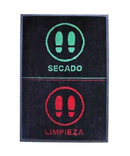 Felpudo desinfectante Calzado - Alfombra Limpia Zapatos para la Entrada, moqueta higienizante, felpudos Entrada casa (60_x_85_cm)