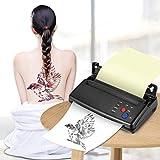 KKTECT Máquina De Transferencia De Tatuajes - Impresora Térmica Impresora De Plantillas Térmicas Para Tatuajes Máquina Copiadora Con 10 Piezas Papel De Transferencia Térmica y 500 Patrones Digitales