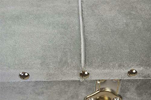 Livitat® Hocker Polsterhocker Suitcase Pouf Truhe Staufach Truhenbank Sitzbank Ottomane LV2083 - 4