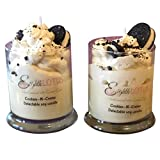 Cookie & Creme 100% Natural Soy Wax Dessert Candle, Delicous Smelling, Triple Scented 10 oz OREO wax melt included, TOP SELLER