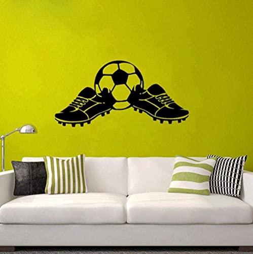 Etiqueta de la pared Mural Calcomanía 34X69Cm Más fresco de dibujos animados Fútbol PVC Etiqueta de la pared Botas Fútbol Niños Niño Deportes