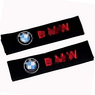 QZS Car Seat Belt Shoulder Pads Strap Covers Cushion 1 Pair/Set for BMW Car