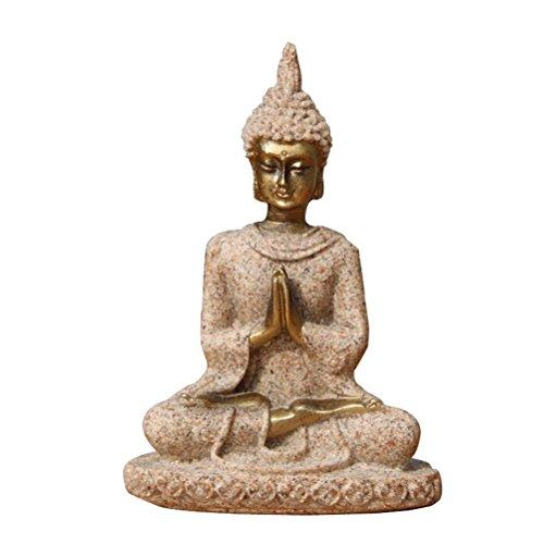 VORCOOL Figura Buda sentado pequeño arenisca Feng