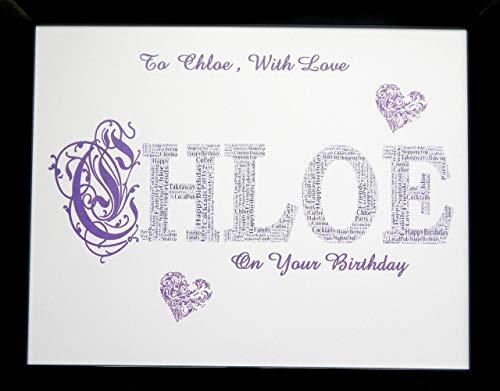 Nome personalizzato Word Art, Natale, compleanno o del...
