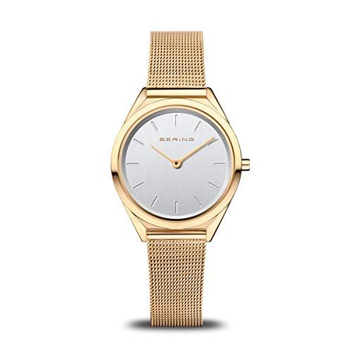BERING Unisex Analog Quartz Uhr mit Edelstahl Armband 17031-334