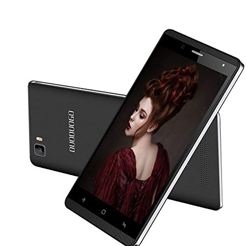 Moviles Libres 4G, DUODUOGO J3 Smartphone Libres 5.0 Pulgadas HD 16GB ROM/Escalable 128GB Smartphone Libre Android 7 Quad Core Telefono Movil 2800mAh Doble Cámara Doble SIM WiFi BT GPS (Negro)