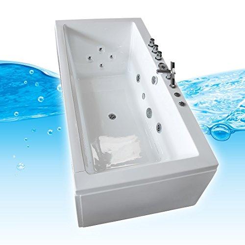 AcquaVapore Whirlpool Pool Badewanne Wanne A1813NA mit Reinigungsfunktion 90×185, Selfclean:aktive Schlauch-Reinigung +70.-EUR - 3