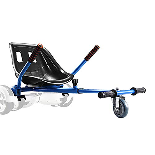 Go Kart for Hoverboard Seat Attachment Accessories for Self Balancing Scooter Gokart Conversion Kit Hover Board Cart Buggy Attachment Fits 6.5'' 8'' 10'' Adjustable for All Heights & Ages Blue