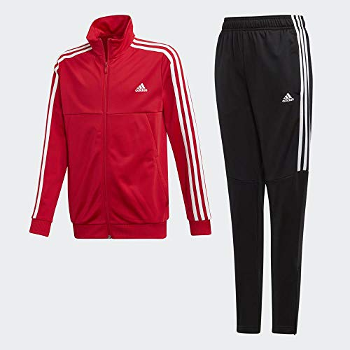 adidas Jungen Tiro Trainingsanzug, rot (scarlet/White Bottom:BLACK/WHITE), Gr. 164