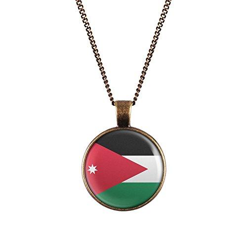 WeAreAwesome Jordan Necklace - Design Emblem Pendant Unisex Necklet Vintage Brass