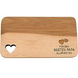 Spruchreif PREMIUM QUALITÄT 100% EMOTIONAL · Frühstücksbrettchen aus Holz · Brotzeitbrett mit Gravur · Geschenk für Familie · Holzbrettchen mit Herzausschnitt