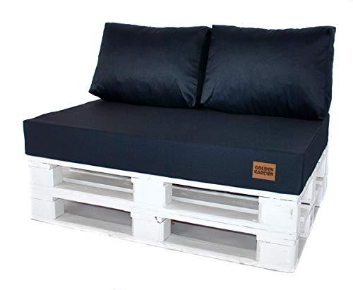 Mayaadi Home Rückenkissen Palettenkissen Palettenpolster Palettenauflage Indoor Outdoor MH-GD07 Jeans Dunkelblau 60x40x10-20cm