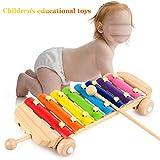 JESU Xilófono Infantil Instrumento, Juguetes Educativos para La Primera Infancia 8-Note Xilófono Música, Percusion para Bebes para Niños Entre 1 A 3 Y Más