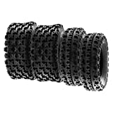 SunF A027 21x7-10 & 22x10-10 XC ATV UTV pneumatico pneumatici sportivi pneumatici tassellati con omologazione stradale 6PR TL E marchio di prova, set di 4 pezzi