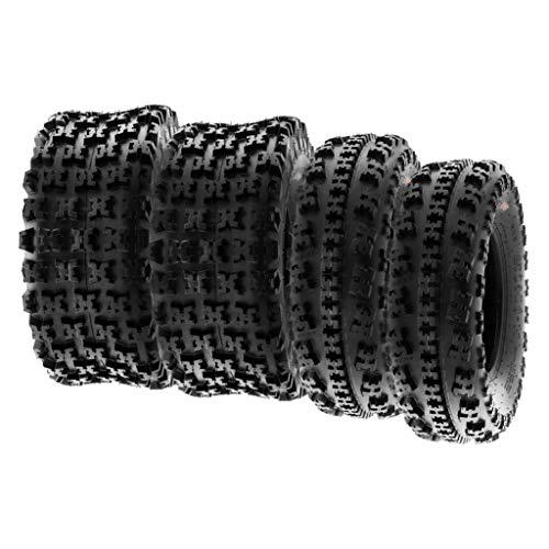 SunF A027 22x7-10 & 20x11-9 XC ATV UTV Reifen Sportreifen Stollenreifen mit Straßenzulassung 6PR TL 30J E Prüfzeichen, Satz von 4 Stück